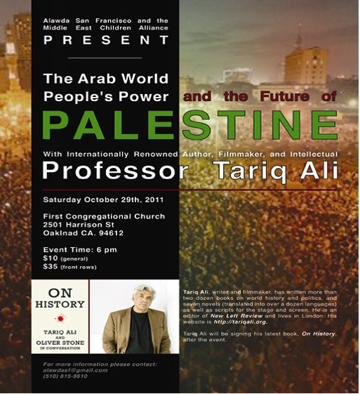 Saturday October 29, 2011 Al-Awda SF with Tariq Ali